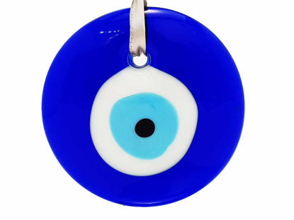 Picture of Glass Evil Eye Amulet. Wall hanging talisman