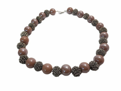 Ceramic pearls necklace Christmas
